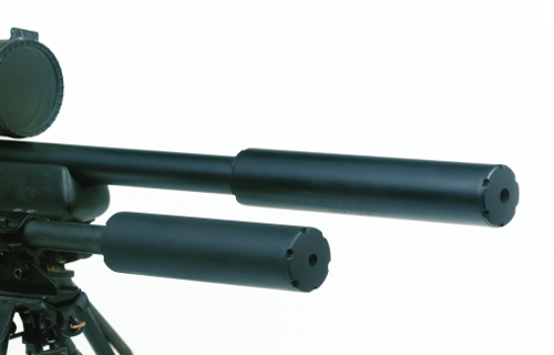Zoom on .30 cal Shadow Suppressor on .308 Savage 10FP